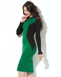 Чёрно-зелёное платье Donna Saggia DSP-194-73t