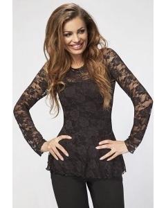 Черная кружевная блузка Enny 16024