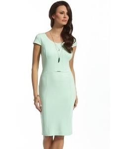 Приталенное платье мятного цвета Ennywear 210063