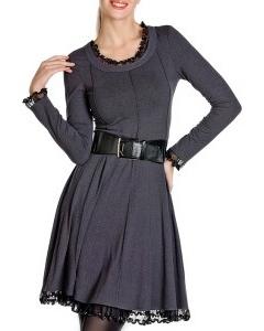 Темно-серое платье Golub / П132-1386-823