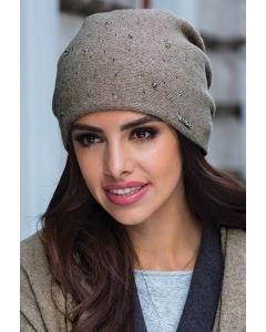Женская шапка бежевого цвета Kamea Penelopa