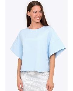 Блузка-кимоно голубого цвета Emka b 2202/azeda