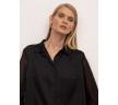 Блузка с длинными полупрозрачными рукавами Emka B2412/ivory