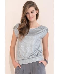 Женская летняя блузка из блестящего трикотажа Zaps Ava