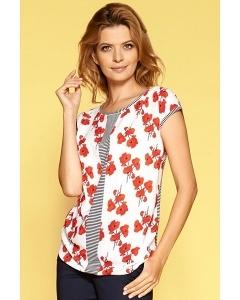 Блузка с коротким рукавом и полукруглым вырезом Zaps Ragna
