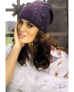 Фиолетовая трикотажная шапка цвета Kamea Sara