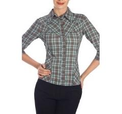 Классическая женская рубашка в клетку | Б798-1318