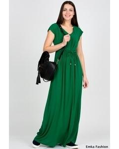 Длинное зеленое платье Emka Faahion PL-414/lust