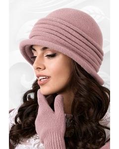 Трикотажная шляпа розового цвета Kamea Salerno