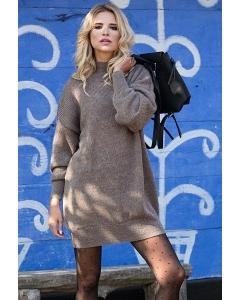 Вязаное платье оверсайз Fobya F574
