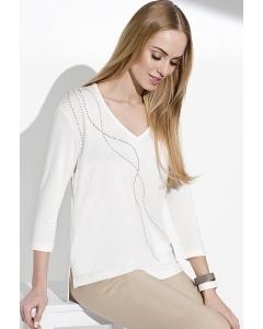 Летняя женская блузка молочного цвета Sunwear I36-4-08