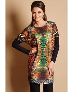 Яркое платье-туника TopDesign B5 083