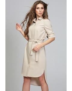 Платье-рубашка бежевого цвета Donna Saggia DSP-285-2