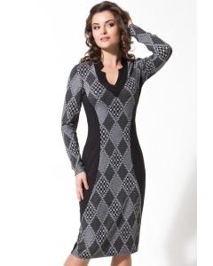 Платье с рисунком в ромб   B2 062