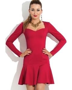 Короткое платье из трикотажа Donna Saggia DSP-101-34t