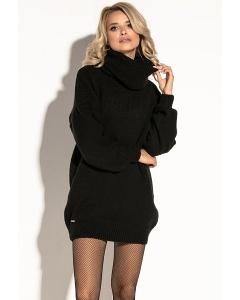 Чёрное платье oversize Fobya F577