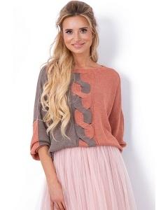 Двухцветный свитер Fobya F635
