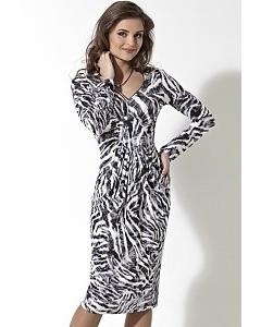 Черно-белое платье TopDesign   B2 007