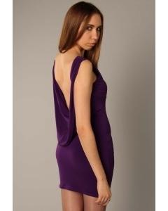 Фиолетовое платье с открытой спиной   3406