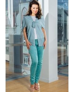 Бирюзовые женские брюки TopDesign Premium PA7 15