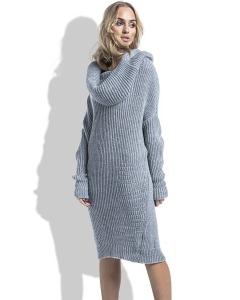 Теплое платье из пряжи Fimfi I224