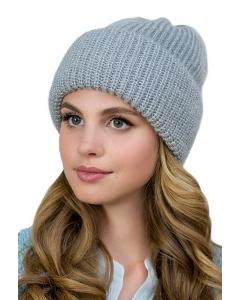 Женская шапка из мохера серого цвета Landre Доната