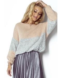 Двухцветный свитер Fimfi I302