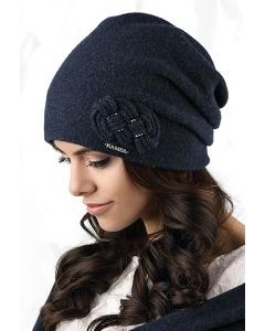 Женская шапка тёмно-синего цвета Kamea Bergamo