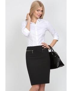 Черная офисная юбка EmkaFashion 495-kapriz