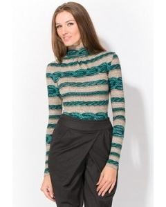 Серо-зеленая блузка   3643