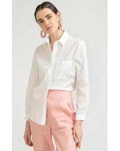 Хлопковая рубашка молочного цвета Emka B2266/manya