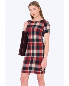Мини-платье в клетку Emka Fashion PL-422/vivaldi