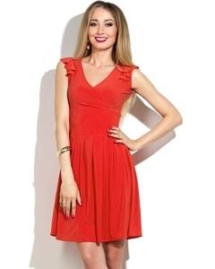 Короткое красное платье Donna Saggia DSP-145-3t