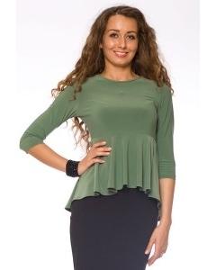 Блузка с эффектом баски | DSB-17-36t