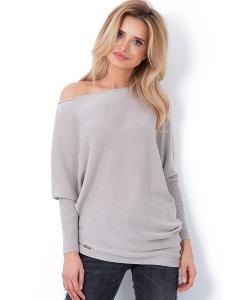Асимметричный свитер с большим вырезом Fobya F642