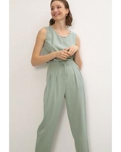 Зауженные брюки мятного цвета Emka D194/vinius