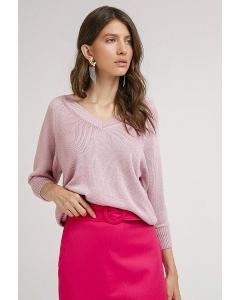 Трикотажный джемпер розового цвета Emka B2477/carnela