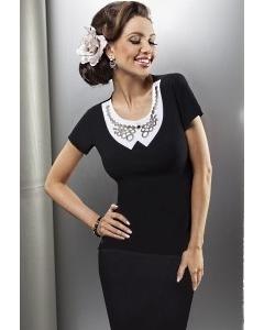 Черная блузка Enny   15003