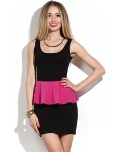 Короткое черное платье   DSP-45-62t