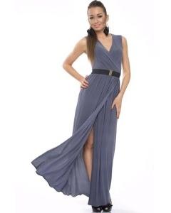 Длинное трикотажное платье Donna Saggia   DSP-90-48t