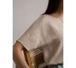 Свободная легкая блуза бежевого цвета Emka B2462/tobago