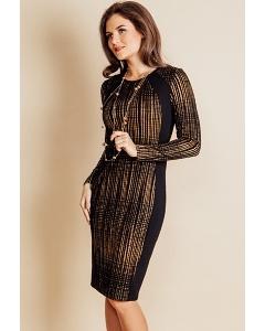 Трикотажное платье Top Design B6 044