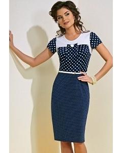 Платье в горошек синего цвета TopDesign A4 072