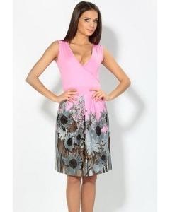Летнее платье розового цвета | 1704