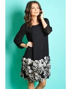 Чёрное платье с серым низом TopDesign Premium PB5 01