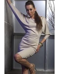 Платье с рукавом летучая мышь   DSP-96-45t