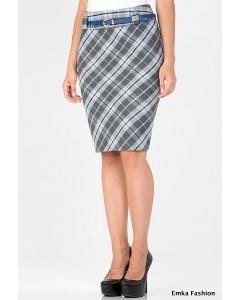 Тёплая шерстяная юбка Emka Fashion 476-damena
