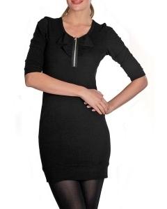 Черное платье на молнии | П133-1084