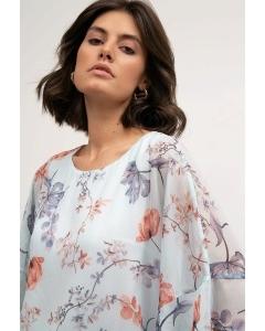 Лёгкая блузка нежно-голубого оттенка Emka B2596/aquarelle