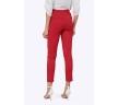 Укороченные брюки красного цвета Emka D035/luminous